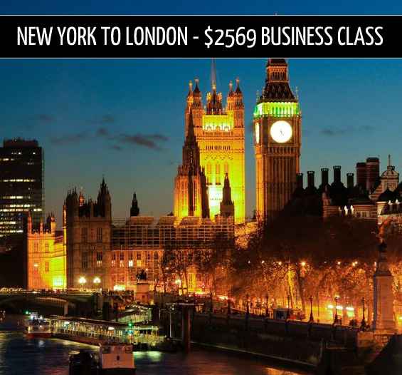 business class tickets – New York to London