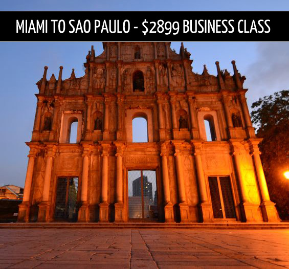 business class tickets – Miami to Sao Paulo