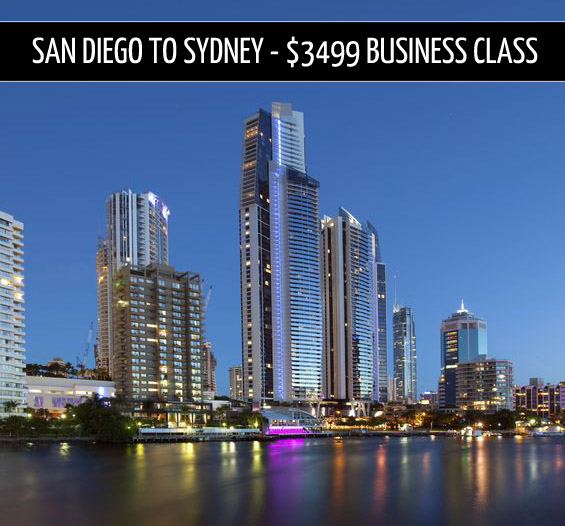 business class tickets – San Diego to Sydney